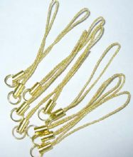 Mobile phone loops x 10. Gold with Gold findings.
